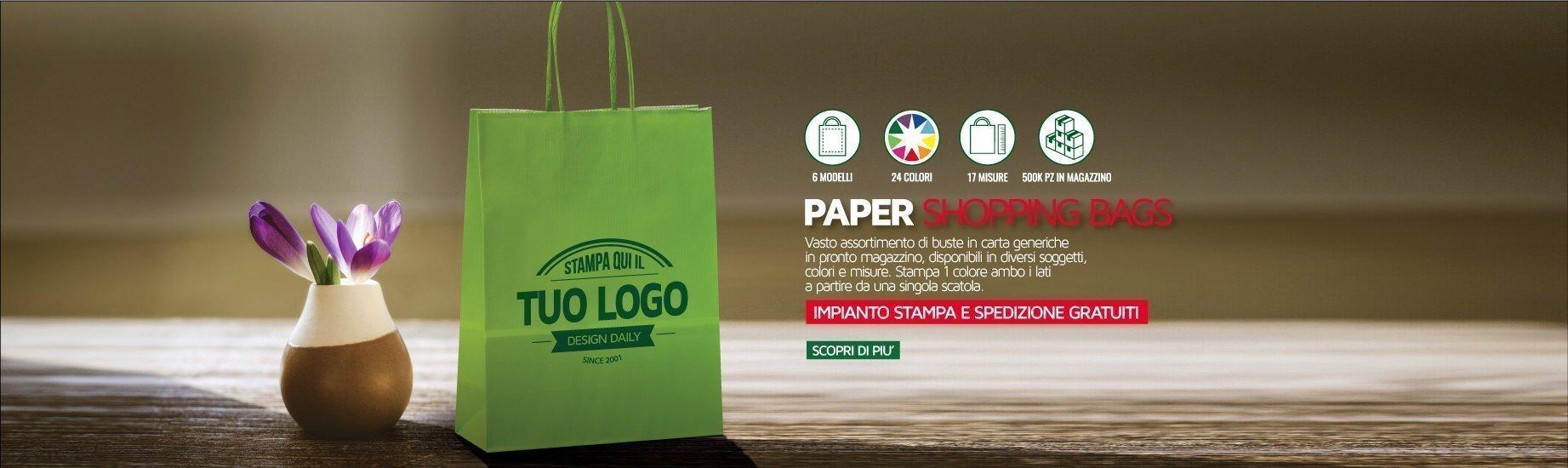 17cd71b8fc COM Shopper in carta, Plastica e Accessori Personalizzati e Promozionale  Online